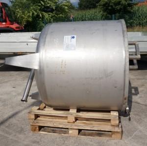 Behälter 1.500 Liter aus V4A, einwandig, gebraucht