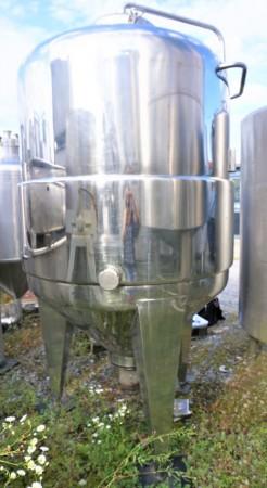 Behälter 1.622 Liter aus V2A temperierbar, gebraucht