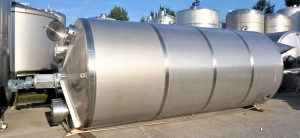 Behälter 20.000 Liter aus V2A isoliert, temperierbar, gebraucht