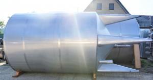 Behälter 15.000 Liter aus V2A isoliert, temperierbar, gebraucht