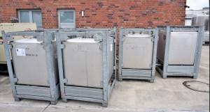 Container 1.000 Liter aus V2A einwandig, gebraucht