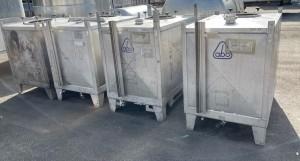 Container 1.100 Liter aus V2A einwandig, gebraucht