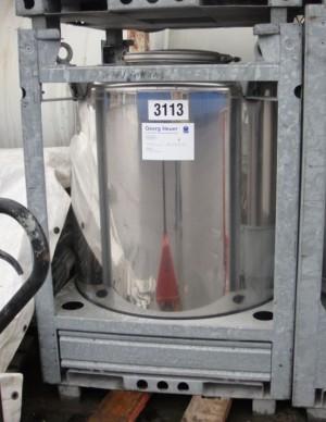 Container 960 Liter aus V2A, einwandig, gebraucht