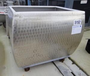 Wanne 900 Liter aus V2A, gebraucht, einwandig