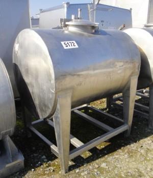 Behälter 800 Liter aus V2A, gebraucht, einwandig