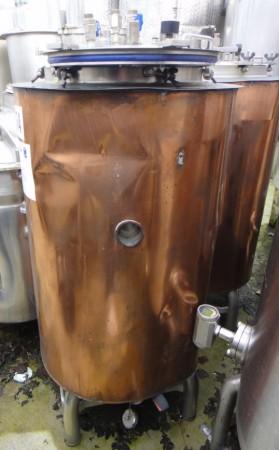 Behälter 180 Liter aus V2A, gebraucht, isoliert, temperierbar