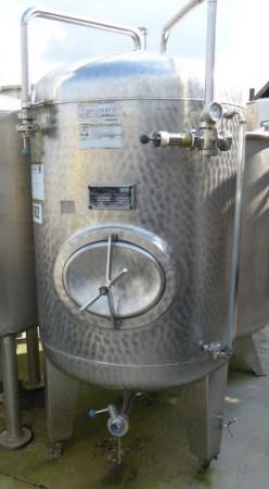 Druckbehälter 1.000 Liter aus V2A, gebraucht,  einwandig