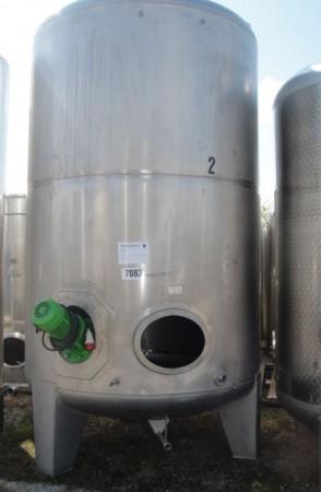 Behälter 9.000 Liter aus V2A, gebraucht, einwandig