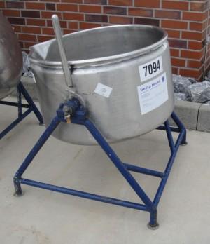 Behälter 160 Liter aus V2A, gebraucht, temperierbar