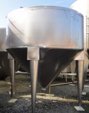 Behälter 7.500 Liter aus V2A, gebraucht, einwandig