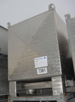 Behälter 900 Liter aus V2A, gebraucht, einwandig