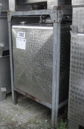 Container 950 Liter aus V2A, gebraucht, einwandig