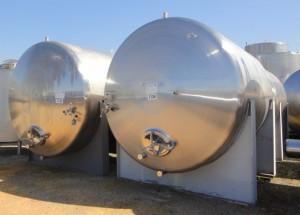 Behälter 13.000 Liter aus V4A, gebraucht, einwandig