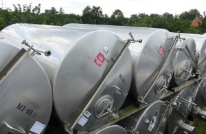 Behälter 10.000 Liter aus V2A, einwandig, gebraucht