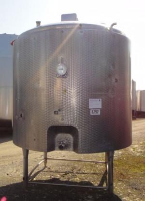 Behälter Liter aus V2A, gebraucht, isoliert