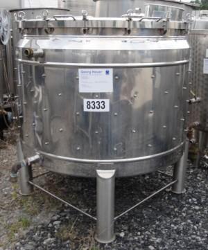 Behälter 1.200 Liter aus V2A, gebraucht, doppelwandig