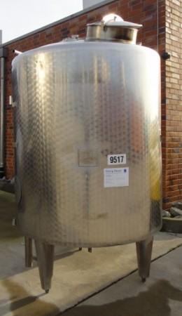 Behälter 1.200 Liter aus V2A. isoliert, gebraucht