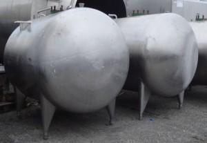 Druckbehälter 2.800 Liter aus V4a, einwandig, gebraucht