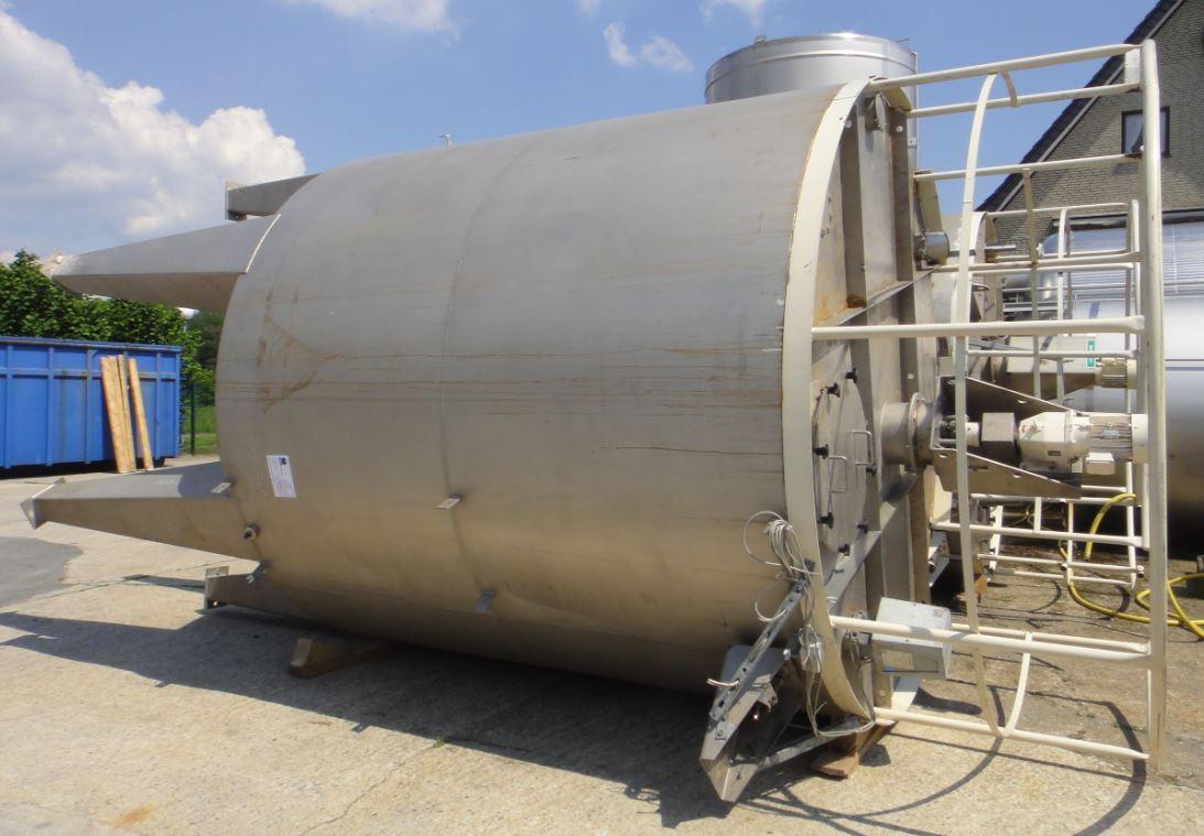 Behälter 20.000 Liter aus V2A, gebraucht, einwandig