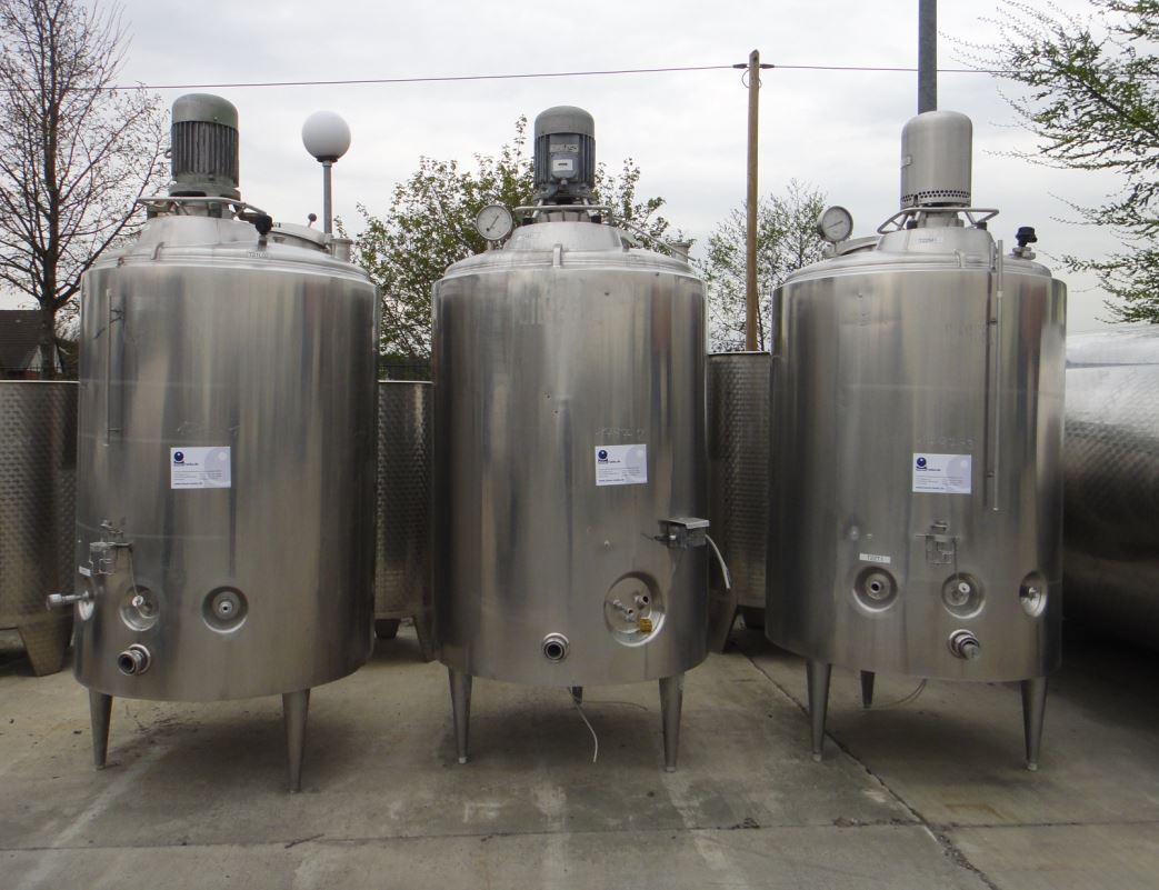Behälter 1.200 Liter aus V2A, gebraucht, temperierbar, isoliert