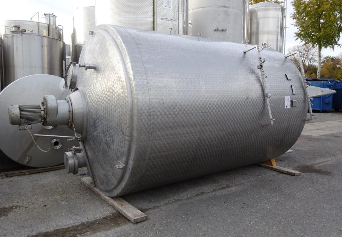 Behälter 16.000 Liter aus V2A, gebraucht, temperierbar, isoliert