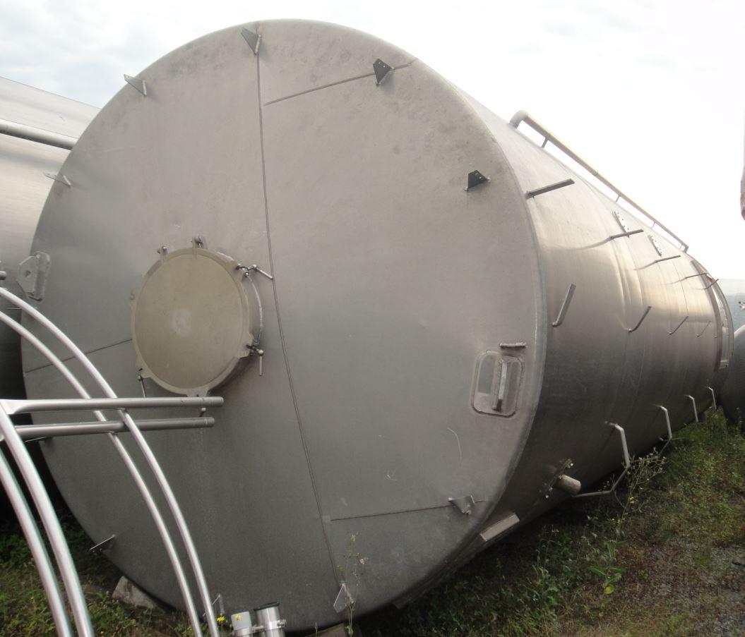 Silo 30.000 Liter aus Aluminium, einwandig